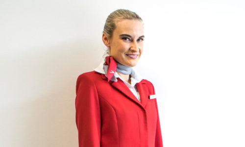 Elke Nemeth aus Pinggau ist seit 13 Jahren Flugbegleiterin bei den Austrian Airlines. (Foto © Austrian Airlines AG)