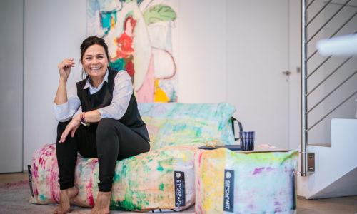 """""""Sit on Art"""" heißt die Outdoormöbel-Linie von Andrea Ochsenhofer"""