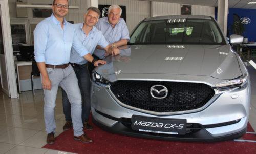 Verkaufsexperte Rene Goldberg und die Firmenchefs Sascha Fazekas und Josef Kleinrath