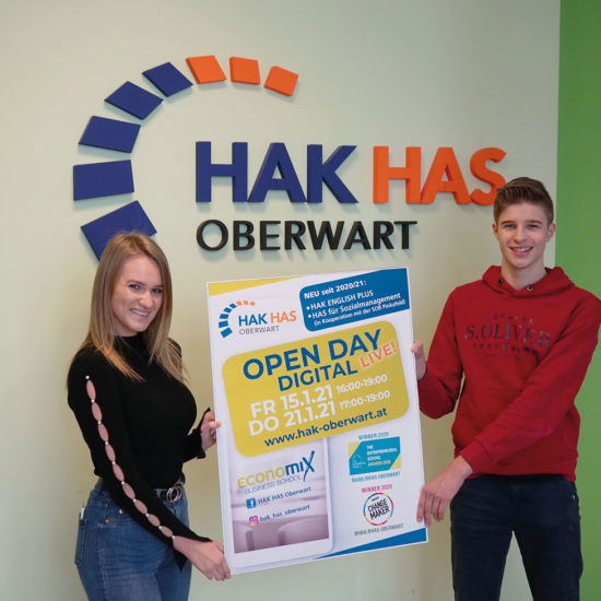15./21. Jänner 2021: OPEN DAY DIGITAL an der BHAK/BHAS Oberwart