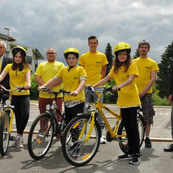 Mobiler Kreisverkehr für Fahrrad-Sicherheit